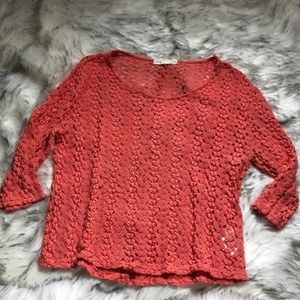 Urban Outfitters orange cut out sweater medium
